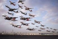 عکسهای خلاقانه از لحظه بلند شدن هواپیما