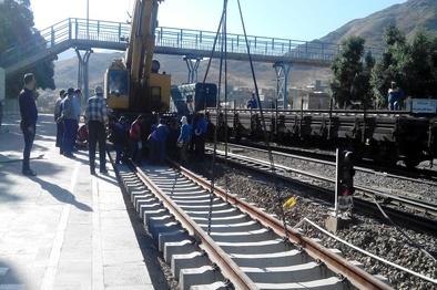 بازسازی ۵۰۰ متر از خط ایستگاه راهآهن اراک