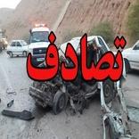 تصادف دو خودرو در جاده ورامین