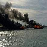 آتشسوزی  ۳ فروند لنج باری در دبی