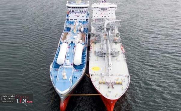 نخستین سوخترسانی کشتی - به - کشتی LNG