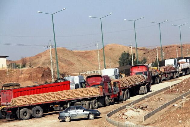 صادرات کالا در مرز مهران از یک میلیون تن فراتر رفت