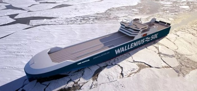 World's first mega ro-ro vessels with LNG-fuelled engines