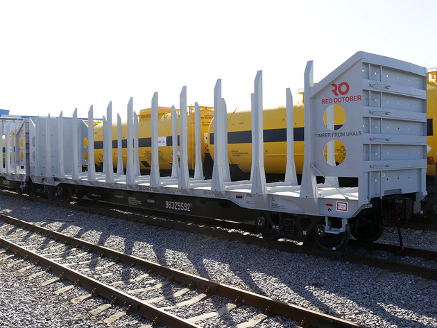 Red October timber wagons delivered