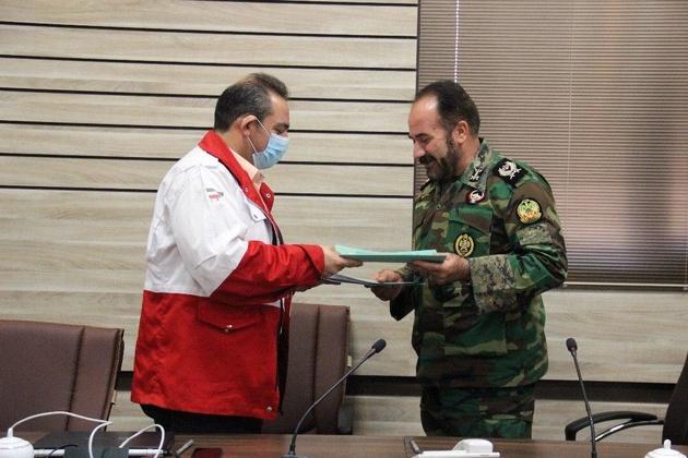 تفاهم نامه همکاری هلال احمر قزوین  و ارتش به امضاء رسید