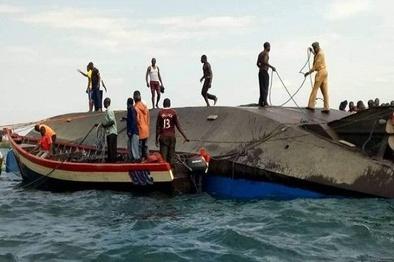 40 کشته در اثر واژگونی کشتی در تانزانیا