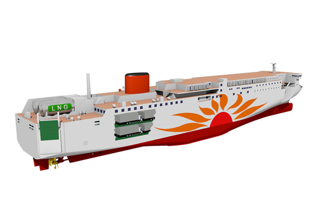 Mitsubishi, MOL partner to construct two LNG-fueled ferries