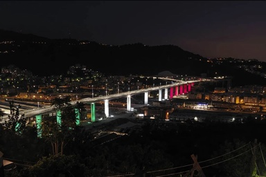 Renzo Piano's solar-powered bridge opens to traffic in Italy