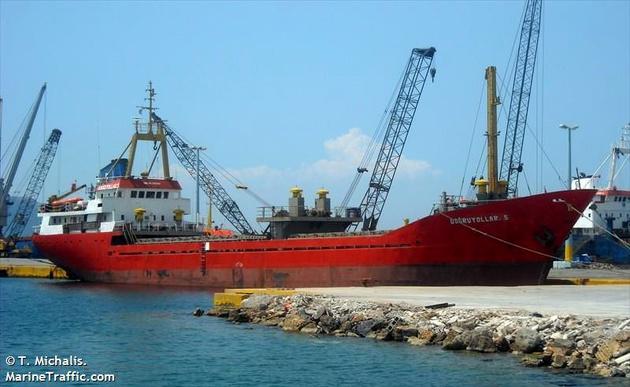 Greek Naval And Turkish Cargo Ship Collide