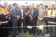 افتتاح روکش آسفالت محور نورآباد- نهاوند