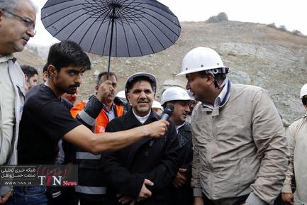 بازدید وزیر راه از آزادراه تهران-شمال