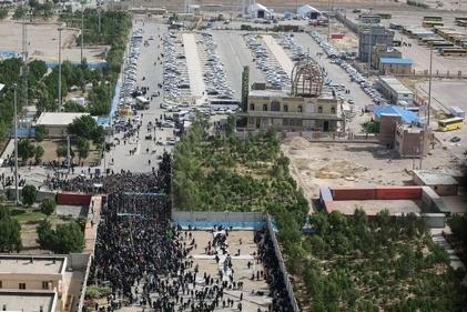 تصاویر هوایی مهران در آستانه اربعین