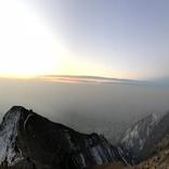 تصویر پانورامایی از حجم آلودگی امروز تهران، از ارتفاعات توچال