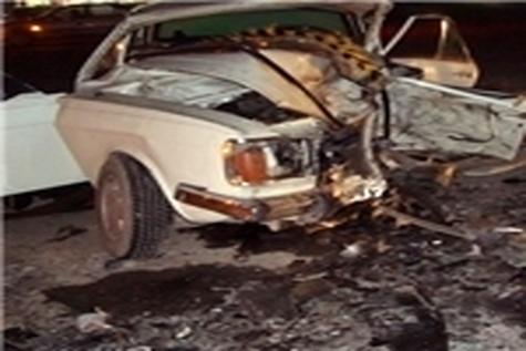 دو کشته و سه مصدوم بر اثر سقوط خودرو پیکان در گردنه حیران