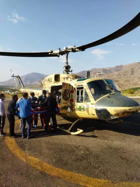 اورژانس  هوایی زنجان نجات بخش جان بیمارقلبی شد