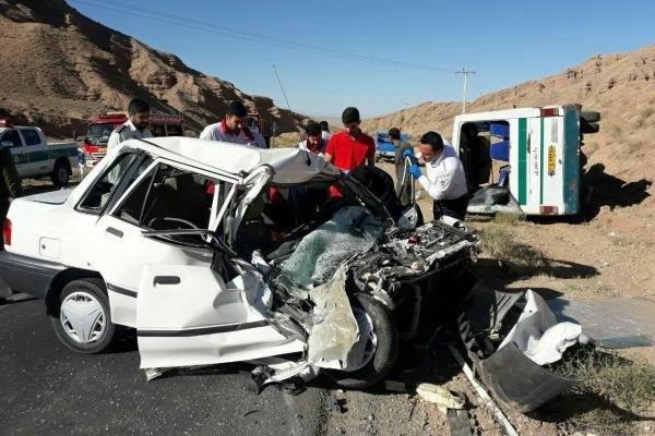 حادثه ترافیکی در محور ساوه - همدان۲ نفر را به کام مرگ کشاند