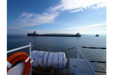 Roger Blough remains aground on Gros Cap Reef