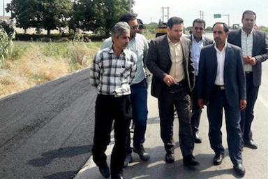 عملیات اجرای آسفالت محور حسین آباد - طوسکلا