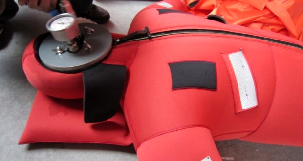Monthly inspections of immersion suits are required for specific vessels