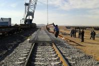 ریلگذاری در پروژه دو خطه کردن راهآهن «زنجان - تهران»