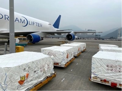 Boeing Dreamlifter transports 1.5 million face masks for COVID-19 response