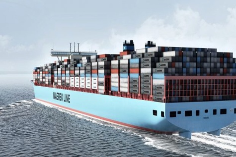 Maersk Line's next generation Triple-E makes maiden port call