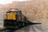 حمل نخستین محموله آهن اسفنجی در کشور از طریق راه آهن یزد