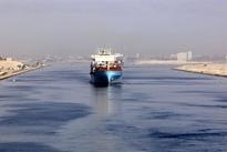 کانال سوئز باز شد؛ کشتیغولپیکر به حرکت درآمد