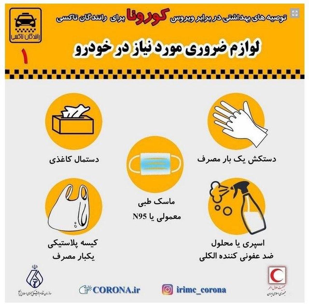لوازم ضروری مورد نیاز در خودرو