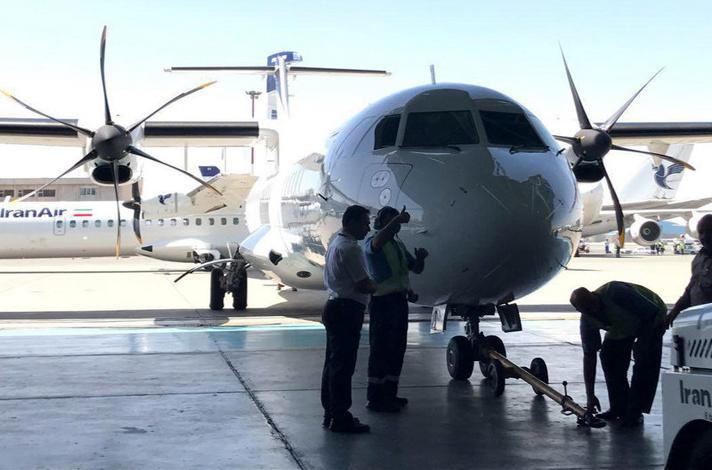 گزارش تصویری/ مراسم تحویل ۴ هواپیماهای برجامی در فرودگاه مهرآباد تهران