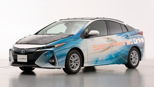 Toyota's latest solar-powered Prius can charge when on the move