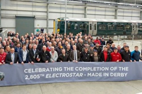 Bombardier rolls out final Electrostar EMU