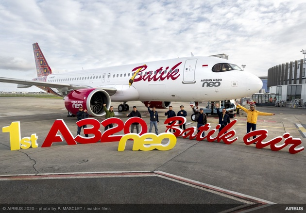 Indonesia's Batik Air receives its first Airbus A320neo