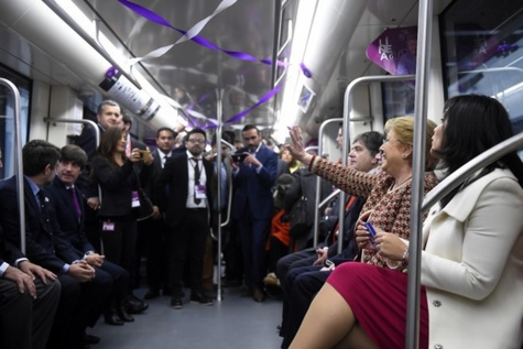 Santiago Metro Line 6 in Chile inaugurated