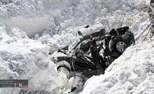 سقوط بهمن در جاده چالوس یک قربانی گرفت