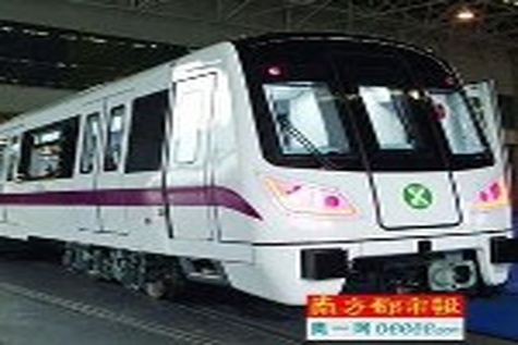 Shenzhen metro train rolled out