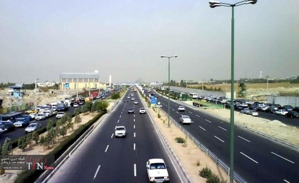 جدول وضعیت ترافیک لحظهای راههای اصلی و فرعی استان تهران - ۱