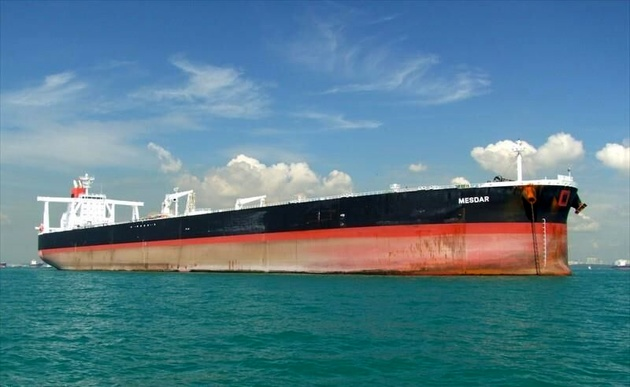 نفتکش مصدر در خلیج فارس در حال تردد است