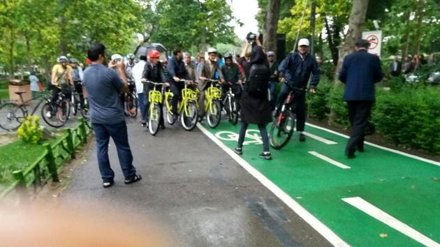 افتتاح مسیر دوچرخهسواری در پارک لاله؛ خانههای دوچرخه راهاندازی میشوند
