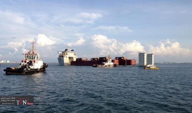 نجات لنج تجاری از غرق شدن درآبهای خارگ