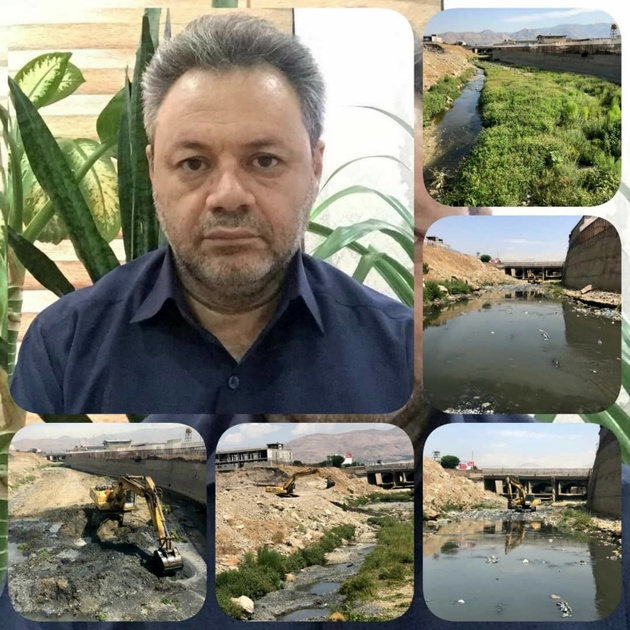 مسیل کن برای پیشگیری از آبگرفتگی سطوح پروازی مهرآباد لایروبی شد