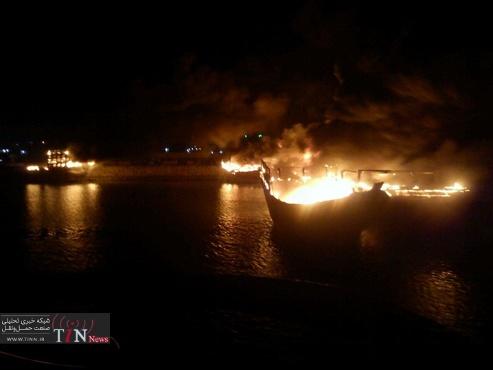 دلیل آتش سوزی شناورها در اروندرود همچنان تحت بررسی است