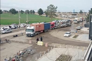 «نوبت مجازی» چگونه برای برای کامیونهای خارجی ایجاد اشتغال میکند؟