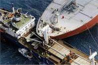 تصادم دو شناور حمل کالای عمومی در چین
