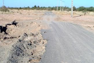 گزارش تصویری / وضعیت نامناسب راه روستای دهرضا
