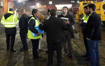 بررسی تجهیزات عملیات زمستانی فرودگاه مهرآباد