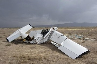 دو کشته در سقوط هواپیمای آموزشی سبک در نزدیکی فرودگاه بجنورد