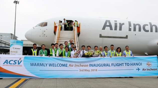 Air Incheon welcomed to Hanoi