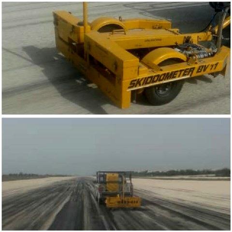 انجام تست اصطکاک باند فرودگاه بوشهر