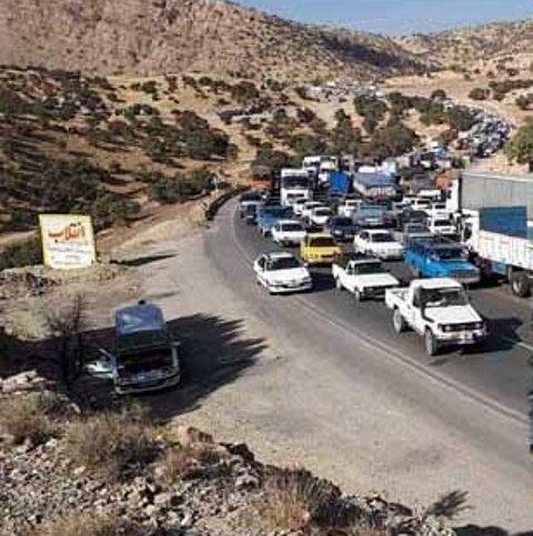 ترافیک سنگین در جاده اسلام آباد غرب به سرپل ذهاب